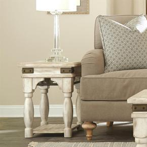 Regan - Chairside Table - Farmhouse White Finish