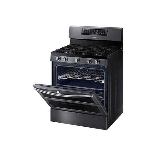 5.8 cu ft. Smart Freestanding Gas Range with Flex Duo™ & Dual Door in Black Stainless Steel