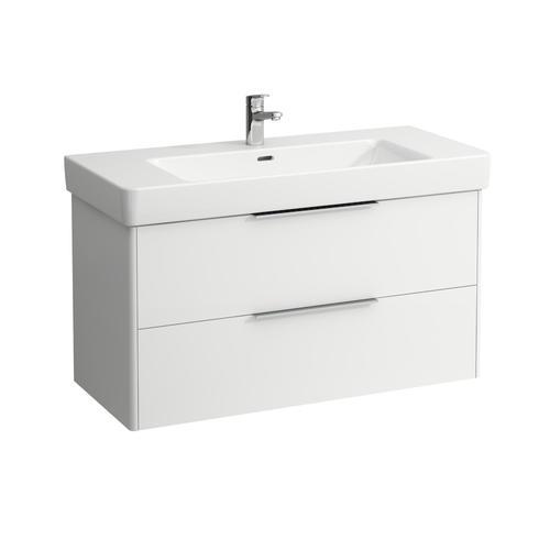 Traffic Grey Vanity unit, 2 drawers, incl. drawer organizer, matching washbasin 813966