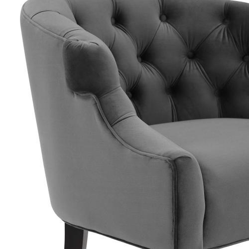 Precept Accent Performance Velvet Armchair in Gray