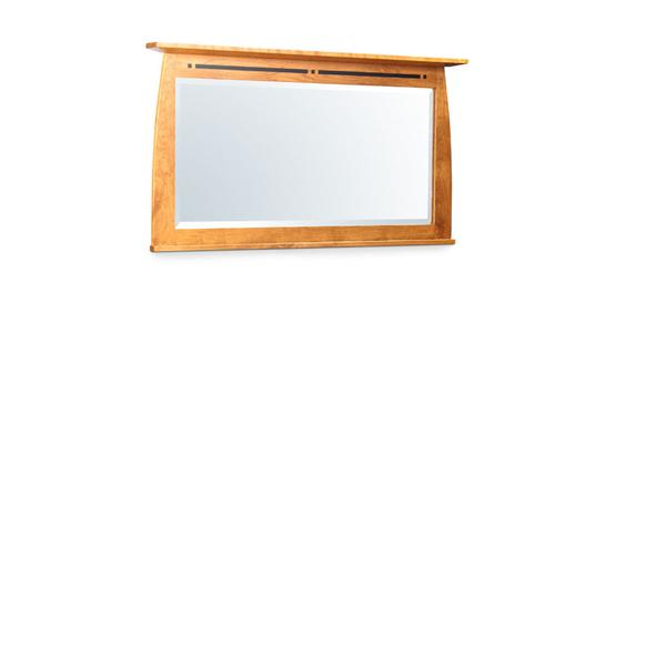 Aspen Bureau Mirror with Inlay, Medium
