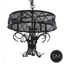 See Details - Spanish Chandelier luxury handcrafted of wrought iron.