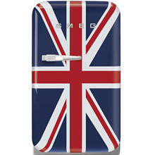 Smeg 50's Retro Style Aesthetic Mini Refrigerator 16-Inches, Union Jack, Right Hand Hinge