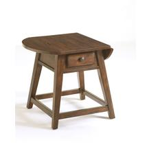 Attic Heirlooms Splay Leg Table, Natural Oak Stain