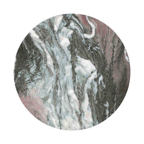 Tov Furniture - Rue Grey/Blush Marble Side Table
