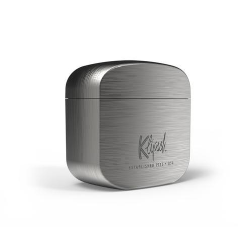 Klipsch - T5 II Earphones Wireless Charging Case - Silver