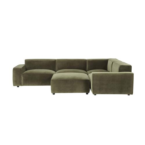Olafur Upholstered 5-piece Modular Loveseat in Moss by A.R.T. Furniture