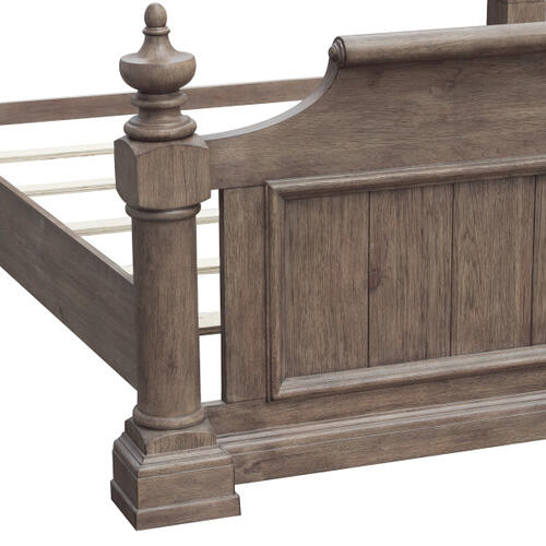 Crestmont Queen Poster Footboard & Slats in Brown