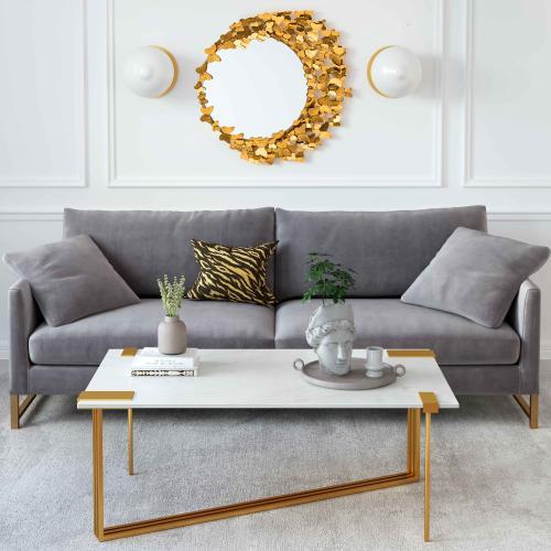 Tov Furniture - Daneb White Marble Cocktail Table