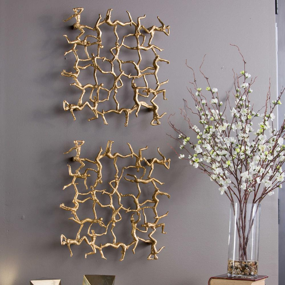 See Details - Golden Gymnasts Wall Square