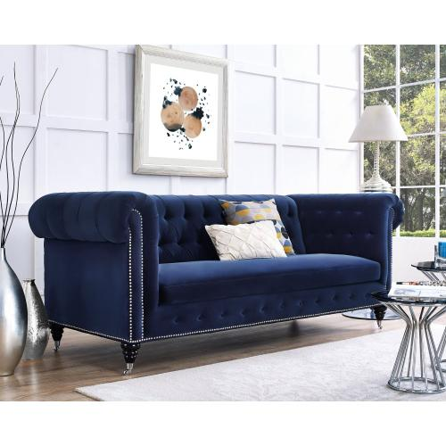 Tov Furniture - Hanny Navy Blue Velvet Sofa