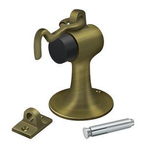 Deltana - Cement Floor Mount Bumper w/ Holder, Solid Brass - Antique Brass