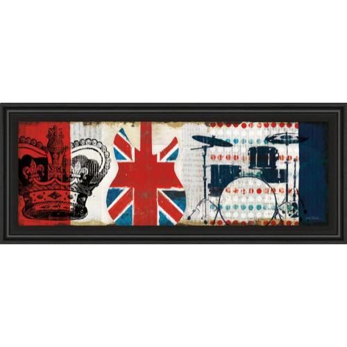 "Classy Art - ""British Invasion Il"" By Mo Mullan Framed Print Wall Art"