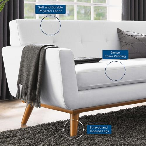 Modway - Engage Upholstered Fabric Loveseat in White