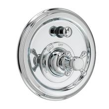 Pressure Balance Tub/Shower Valve & Trim - Cross Handle - Polished Chrome