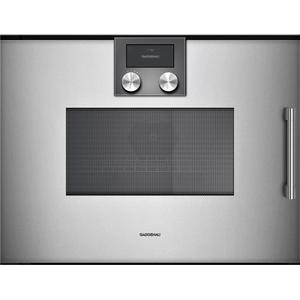 Gaggenau200 Series Combi-microwave Oven 24'' Door Hinge: Left, Door Hinge: Left, Gaggenau Metallic