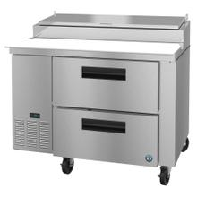 PR46A-D2, Refrigerator, Single Section Pizza Prep Table, Stainless Drawers