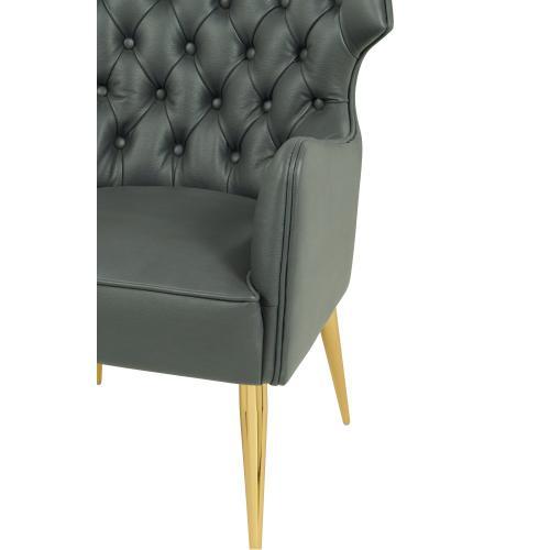 Tov Furniture - Elsa Grey Vegan Leather Chair