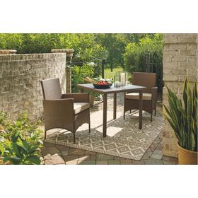 Reedenhurst Square Dining Table Set Brown