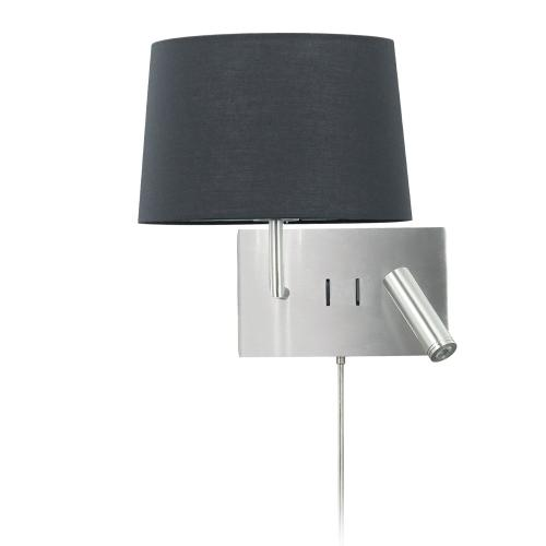 Product Image - Wall Sconce W/ Reading Light , Sc W/ Bk Shade