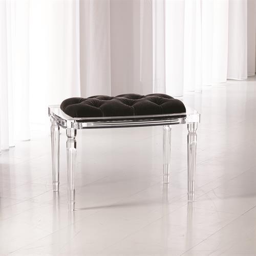 Marilyn Acrylic 4 Leg Bench-Black