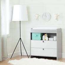 Changing Table - Soft Gray and Pure White