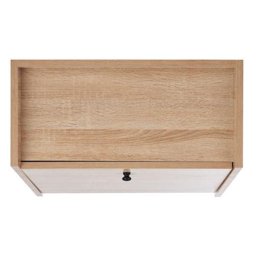 Xander Modern Secretary Desk - Natural / Black