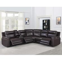 See Details - Doncella Dual-Power Leather 6-Piece Sectional (LAFR,RAFR,CN,AC,AR,W)