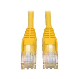 Cat5e 350 MHz Snagless Molded (UTP) Ethernet Cable (RJ45 M/M) - Yellow, 15 ft. (4.57 m)