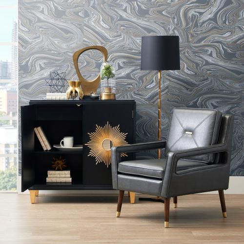 Mid-Century Modern Accent Chair in Charcoal Gray