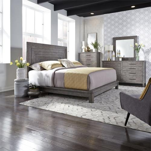 King Platform Bed, Dresser & Mirror, Chest