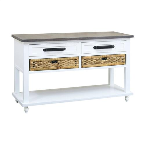 Carrie Console Table With 2 Basket Drawers