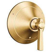 Flara brushed gold transfer valve trim