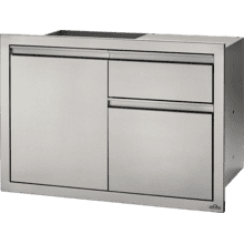 "36"" X 24"" Single Door & Standard Drawer , Stainless Steel"