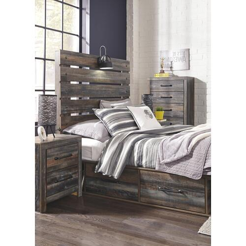 Drystan Full Panel Bed With 4 Storage Drawers
