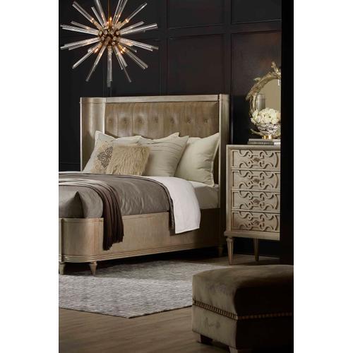 Morrissey Lloyd Upholstered Shelter Queen Bed Bezel