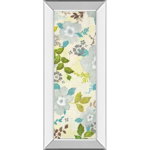 """Classy Art - """"Fragrant Garden I"""" By Tava Studios Mirror Framed Print Wall Art"""