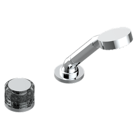 Deck mounted mixer with handshower, progressive cartridge