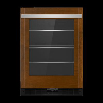 "JennAirPanel-Ready 24"" Under Counter Glass Door Refrigerator, Right Swing"