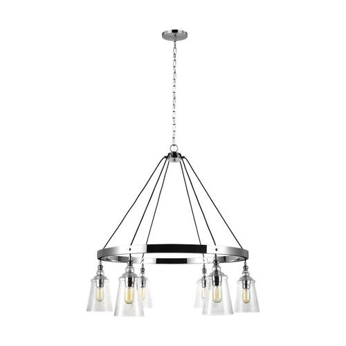 Loras Large Chandelier Chrome