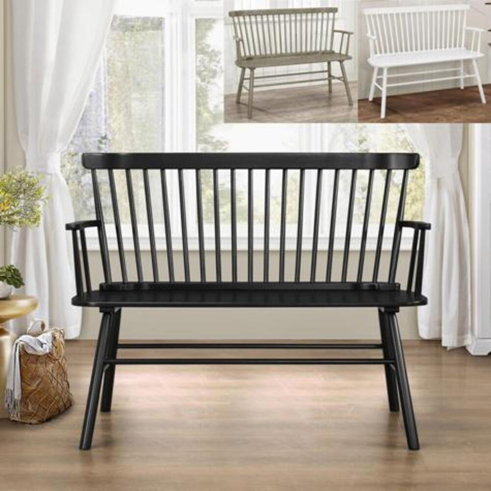 Jerimiah Spindleback Bench White