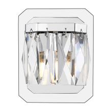 See Details - Krysta 1 Light Bath Vanity (LED) - Closeout ,Chrome / Faceted Crystal Glass