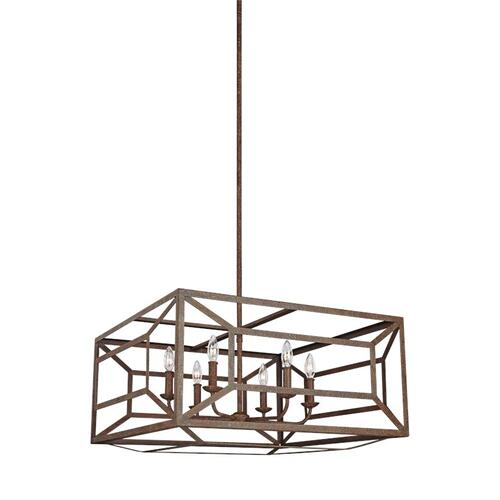Marquelle Wide Lantern Weathered Iron