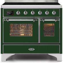 Majestic II 40 Inch Electric Freestanding Range in Emerald Green with Chrome Trim