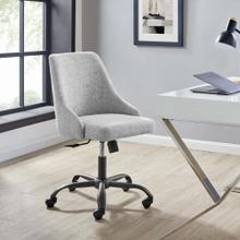 Designate Swivel Upholstered Office Chair in Black Gray