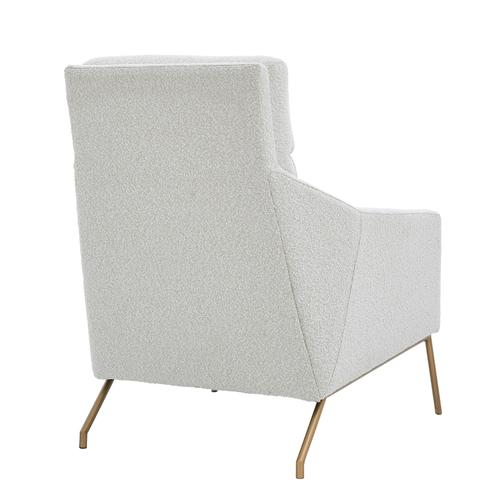 Adrian Fabric Accent Arm Chair, Boucle Beige