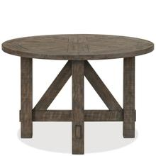 View Product - Bradford - Round Dining Table - Rustic Coffee Finish