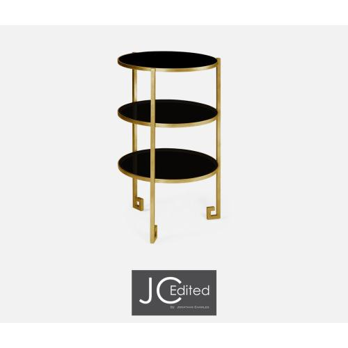 Gilded iron end table