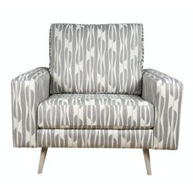 """Contemparary style wide track arm chair and a half. Shown with 8"""" Pyramid legs. Also available with 8"""" Tapered round, 8"""" Plinth base, or 8"""" Square tube legs."""