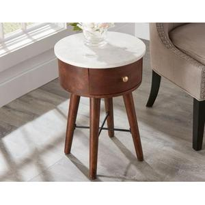Bangalore White Marble Top Accent Table